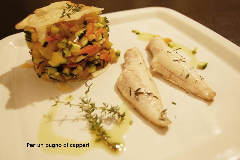 filetti di gallinella di mare con millefoglie di pane carasau e ... - Come Cucinare Filetti Di Gallinella