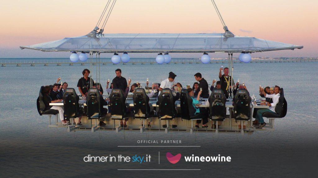 """Wineowine e le """"degustazioni tra le nuvole"""" alla Dinner in the sky"""