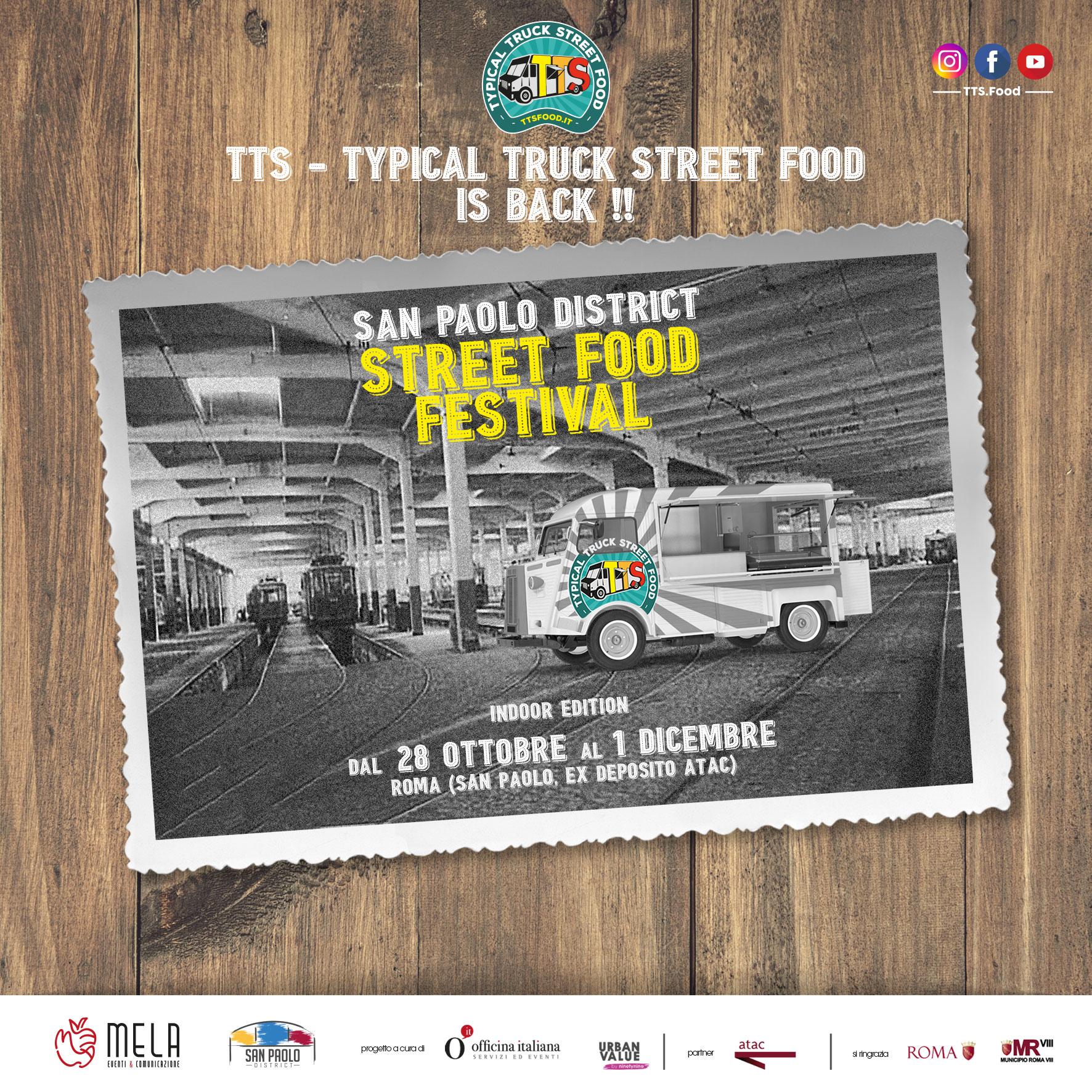 Al San Paolo District lo Street Food Festival 'indoor' di Roma